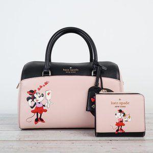 NWT Disney x Kate Spade Minnie Duffle Bag & Wallet